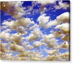 Acrylic Print featuring the digital art Clouds Blue Sky by Jana Russon