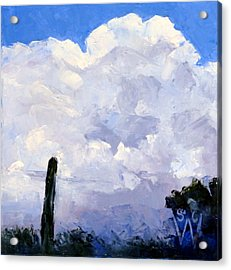 Clouds Building Acrylic Print