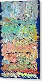 Clouds. Colorful Painter Palette. Exhausted Paint And Abstract Painting. Acrylic Print by Vitali Komarov