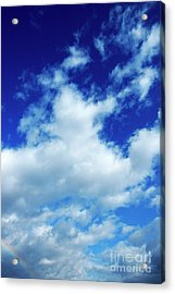 Clouds In A Beautiful Blue Sky Acrylic Print by Sami Sarkis