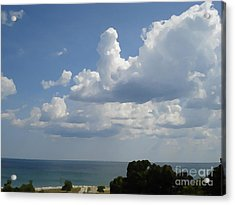 Clouds In August Acrylic Print by John  Bichler
