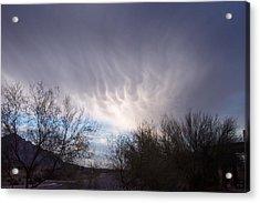 Clouds In Desert Acrylic Print