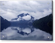 Clouds In The Lake Acrylic Print