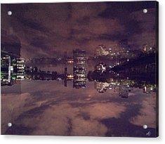 Clouds In The Passaic - Newark Nj Acrylic Print