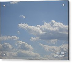 Clouds In The Sky One Acrylic Print by Daniel Henning