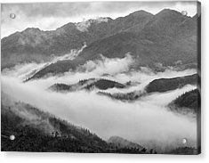 Acrylic Print featuring the photograph Clouds In Valley, Sa Pa, 2014 by Hitendra SINKAR