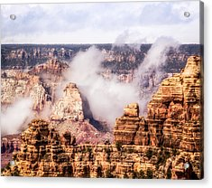 Clouds Lifting From Grand Canyon Acrylic Print