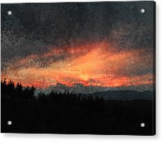 Clouds Like Mountains Acrylic Print by Dorothy Berry-Lound