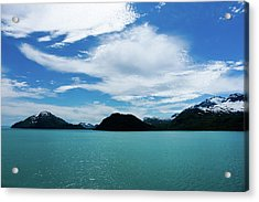 Clouds Mountains And Water Acrylic Print