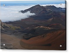 Clouds Moving Into Haleakala Acrylic Print by Jennifer Ancker