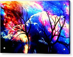 Clouds Of Light God's Work Acrylic Print by Kathy Kelly