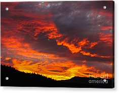 Clouds On Fire Acrylic Print