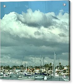 Clouds On The Bay Acrylic Print by Kim Nelson