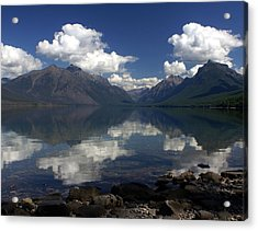 Clouds On The Water Acrylic Print by Marty Koch