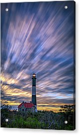 Clouds Over Fire Island Acrylic Print