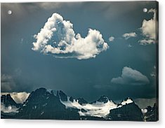 Acrylic Print featuring the photograph Clouds Over Glacier, Banff Np by William Lee