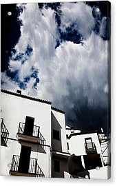 Clouds Over  Jubrique Acrylic Print by Piet Scholten