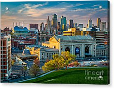 Clouds Over Kansas City Acrylic Print