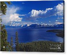 Clouds Over Lake Tahoe Acrylic Print by Vance Fox