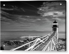 Clouds Over Marshall Point Lighthouse In Maine Acrylic Print
