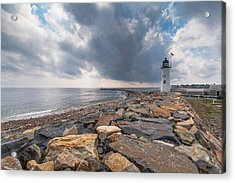 Clouds Over Old Scituate Light Acrylic Print