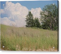 Acrylic Print featuring the photograph Clouds Over Sand Dunes by Beth Akerman