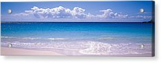 Clouds Over Sea, Caribbean Sea Acrylic Print by Panoramic Images