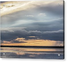 Acrylic Print featuring the photograph Clouds Over The Bottoms by Rob Graham