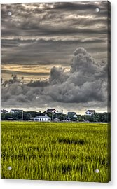Clouds Over The Chapel Acrylic Print by Ginny Horton