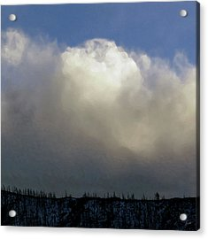 Clouds Over The Ridge Acrylic Print by Agustin Goba