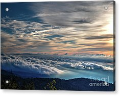 Acrylic Print featuring the photograph Clouds Over The Smoky's by Douglas Stucky