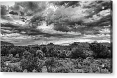 Acrylic Print featuring the photograph Clouds Over The Superstitions by Monte Stevens