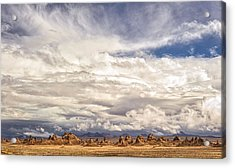 Clouds Over Trona Pinnacles Acrylic Print by Duane Miller