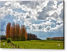 Clouds Over Voorne Acrylic Print