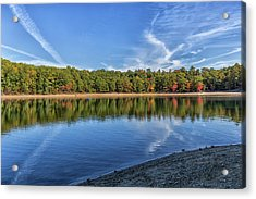 Clouds Over Walden Pond Acrylic Print by Brian MacLean
