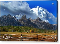 Clouds Rising Acrylic Print by Diane E Berry