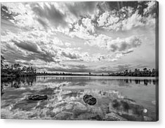 Clouds Touching The Water Acrylic Print