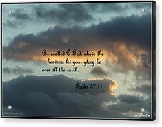 Clouds With Scripture Acrylic Print by Carolyn Ricks
