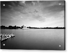 cloudscape and the Tidal Basin Acrylic Print by Edward Kreis