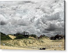 Acrylic Print featuring the photograph Cloudy Beach By Kaye Menner by Kaye Menner