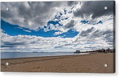 Cloudy Beach Day Acrylic Print