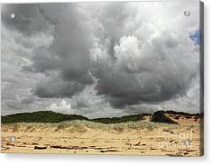 Acrylic Print featuring the photograph Cloudy Beach II By Kaye Menner by Kaye Menner