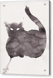 Acrylic Print featuring the painting Cloudy Cat by Marc Philippe Joly