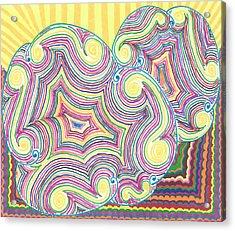 Acrylic Print featuring the drawing Cloudy Chaos by Jill Lenzmeier