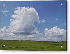Cloudy Day At Flint Hills Acrylic Print by Lisa Plymell