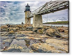 Acrylic Print featuring the photograph Cloudy Day At Marshall Point by Rick Berk