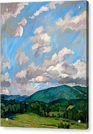Cloudy Day Berkshires Acrylic Print by Thor Wickstrom