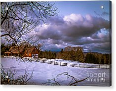 Cloudy Day In Vermont Acrylic Print