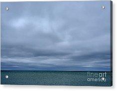 Cloudy Day On Michigami Acrylic Print by Thomas R Fletcher