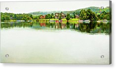Cloudy Day On The Lake Acrylic Print